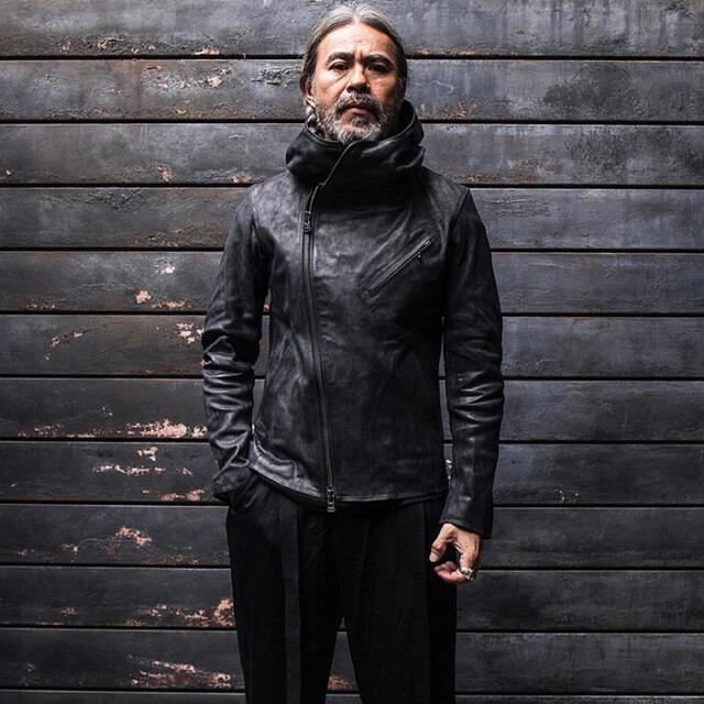 Yohji Yamamoto(ヨウジヤマモト)のyohji yamamoto backlash ヨウジヤマモト レザージャケット メンズのジャケット/アウター(レザージャケット)の商品写真