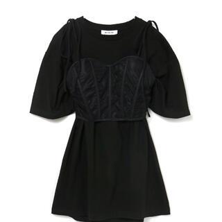 バブルス(Bubbles)の【MELT THE LADY】corset T-onepiece(ミニワンピース)
