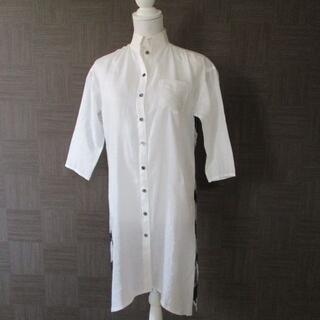 アルティザン(ARTISAN)のアルチザン ARTISAN 麻100%ロングシャツ リネン 7 日本製 美品(シャツ/ブラウス(長袖/七分))