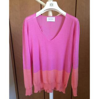 ANAYI - BEIGE 春夏カラーの上品な青みピンクニット 美品