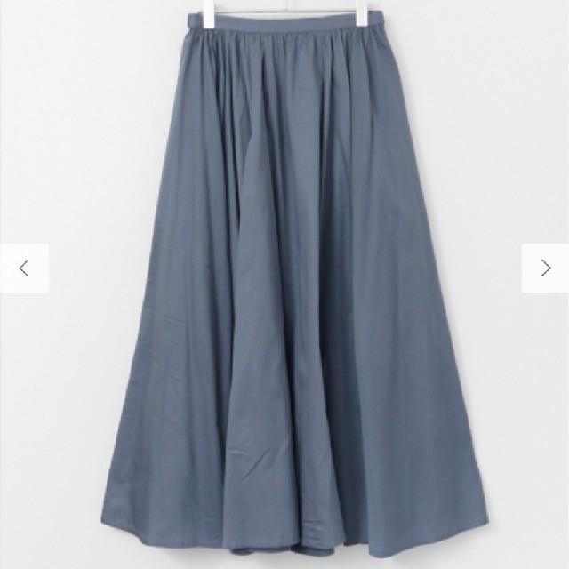 DOORS / URBAN RESEARCH(ドアーズ)のコットンサテン ギャザーフレアマキシスカート レディースのスカート(ロングスカート)の商品写真