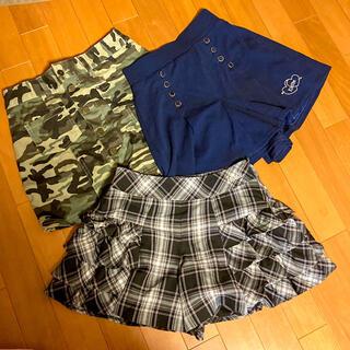 バービー(Barbie)のキュロットスカート 150-160 3点セット(パンツ/スパッツ)