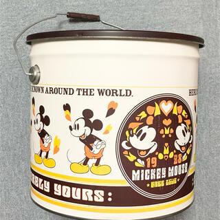 ディズニー(Disney)のレトロ*ミッキー*バケツ型ビッグ収納缶(ケース/ボックス)