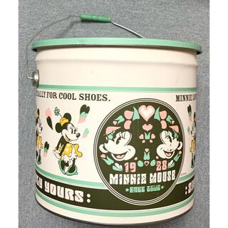 ディズニー(Disney)のレトロ*ミニー*バケツ型ビッグ収納缶(ケース/ボックス)