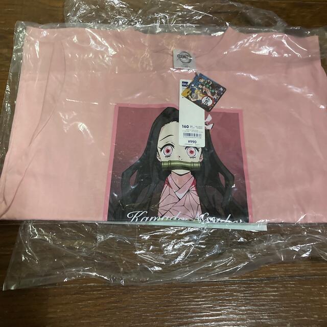 GU(ジーユー)の鬼滅の刃 禰󠄀豆子 Tシャツ GU キッズ/ベビー/マタニティのキッズ服女の子用(90cm~)(Tシャツ/カットソー)の商品写真