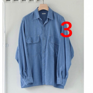 COMOLI - COMOLI 21SS新作 ベタシャン CPOシャツ サックス サイズ3 新品
