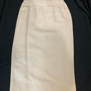 シャネル(CHANEL)のchanel タイトスカート34  白 中古(ひざ丈スカート)