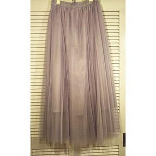 GU - GU チュールプリーツロングスカート
