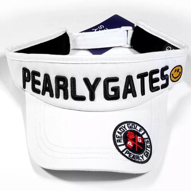 PEARLY GATES(パーリーゲイツ)のパーリーゲイツ ゴルフバイザー サンバイザー キャップ ユニセックス メンズの帽子(サンバイザー)の商品写真