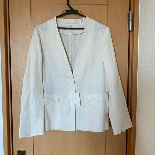 IENA(イエナ)の新品タグ付 イエナ❤︎ French Linen Vネックジャケット レディースのジャケット/アウター(ノーカラージャケット)の商品写真