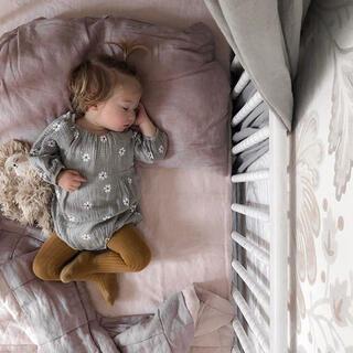 キャラメルベビー&チャイルド(Caramel baby&child )のベビー ロンパース90 花柄 グレー コットン 春 女の子(ブラウス)