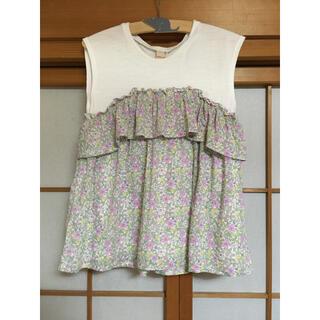 petit main - プティマイン  ドッキングTシャツ 130cm