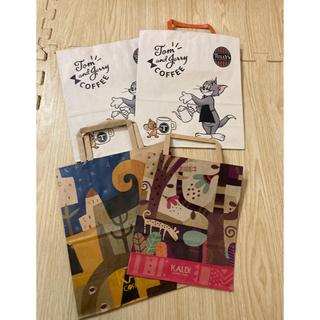 KALDI - 紙袋 アソート スタバ タリーズカフェ カルディ ショップ袋 ショッパー 7枚