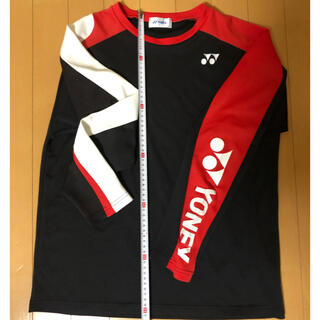 YONEX - ヨネックス  長袖 シャツ 黒 赤 白 Mサイズ