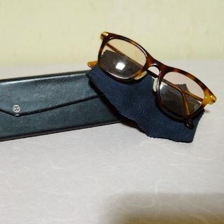 アヤメ(Ayame)の美品 アヤメ NABUDIS メガネ アイウェア ケース付き 茶系(サングラス/メガネ)