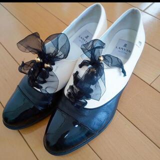 ランバンオンブルー(LANVIN en Bleu)のランバンオンブルーリボンオペラシューズローファー(ローファー/革靴)
