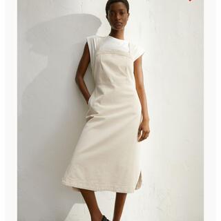エイチアンドエイチ(H&H)の新品 H&M デニムワンピース 完売品 ホワイト(ロングワンピース/マキシワンピース)
