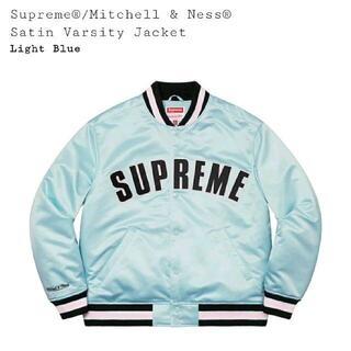 Supreme - S Mitchell & Ness Satin Varsity jacket