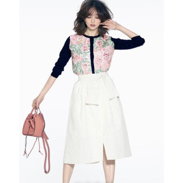Chesty(チェスティ)のchesty♡リボンジャガードスカート♡完売品♡1 レディースのスカート(ロングスカート)の商品写真