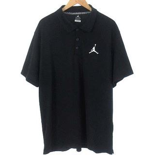 NIKE - ナイキ ジャンプマン エアジョーダン バスケットボール ポロシャツ 黒 XL