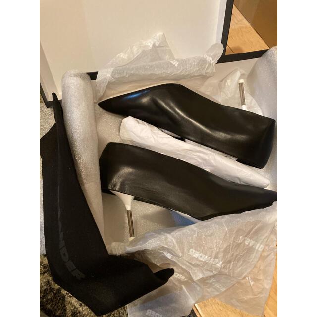 Jil Sander(ジルサンダー)のジルサンダーパンプス黒新品レザーブラックJILSANDER レディースの靴/シューズ(ハイヒール/パンプス)の商品写真