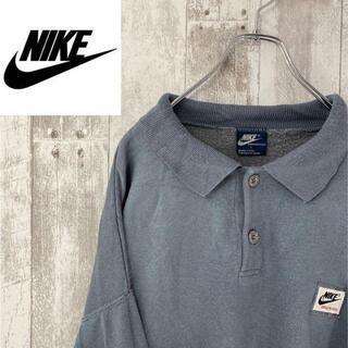 ナイキ(NIKE)の【NIKE】ナイキ 長袖シャツ 襟付き プロシャツ フリース Lサイズ 一点物(シャツ)
