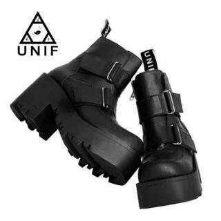 UNIF - unif 厚底ベルトブーツ