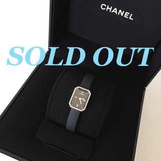 CHANEL - 極美品 CHANEL プルミエール ダイヤベゼル ラバーブレス 黒