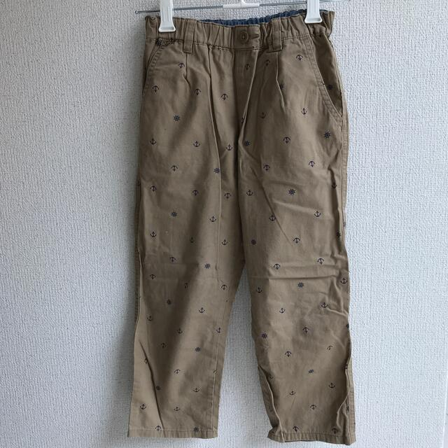 GU(ジーユー)のGU クロップドパンツ 130 キッズ/ベビー/マタニティのキッズ服男の子用(90cm~)(パンツ/スパッツ)の商品写真