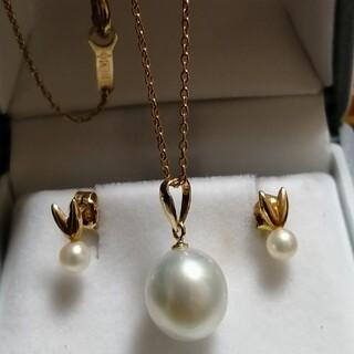 k18本真珠ネックレスとピアス
