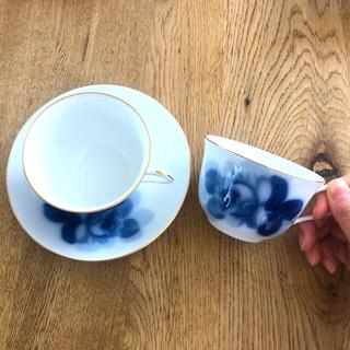 オオクラトウエン(大倉陶園)の未使用 大倉陶園 ティーカップ2客(グラス/カップ)