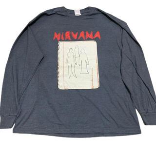 Nirvana ニルバーナ ノート ロンT バンドT ロックT トレーナー XL