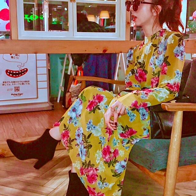 Ameri VINTAGE(アメリヴィンテージ)のAmeri VINTAGE アメリ ワンピース レディースのワンピース(ロングワンピース/マキシワンピース)の商品写真
