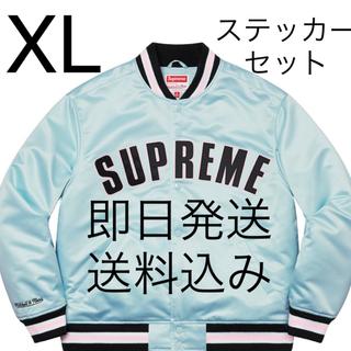 Supreme - XL Supreme Mitchell & Ness Satin Varsity