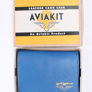 ルイスレザー(Lewis Leathers)のルイスレザー カードケース ブルー(折り財布)