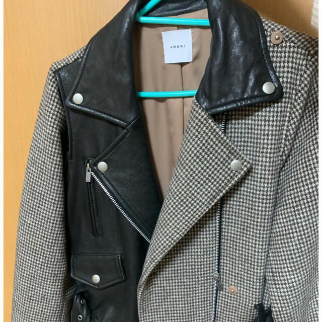 Ameri VINTAGE(アメリヴィンテージ)の値下げ中❗️Ameri vintage(アメリ) ライダースドッキングコート レディースのジャケット/アウター(ロングコート)の商品写真