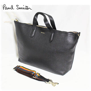 Paul Smith -  《ポールスミス》新品 2Way ビジネスバッグ マルチ柄 A4収納可 就職 黒