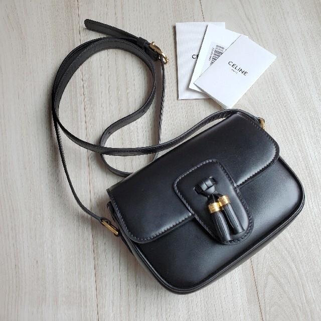 celine(セリーヌ)のセリーヌ タッセルズ ショルダーバッグ スモール レザー ブラック 黒 極美品 レディースのバッグ(ショルダーバッグ)の商品写真