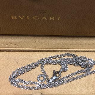 ブルガリ(BVLGARI)の希少品 ブルガリ ネックレス チェーン k18 WG 太め 45㎝(ネックレス)