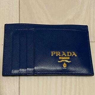 プラダ(PRADA)のPRADA カードケース ブルー(名刺入れ/定期入れ)