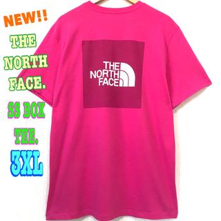 ザノースフェイス(THE NORTH FACE)のビッグサイズ☆ 新品 ノースフェイス BOX Tシャツ ピンク  3XL 4L(Tシャツ/カットソー(半袖/袖なし))