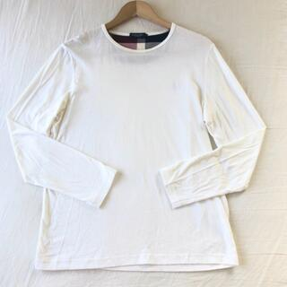 バーバリーブラックレーベル(BURBERRY BLACK LABEL)のクレストブリッジ   バーバリーブラックレーベル ロゴ刺繍ロンTトップスメンズ(Tシャツ/カットソー(七分/長袖))