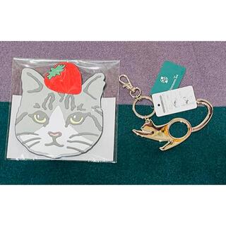 アフタヌーンティー(AfternoonTea)のアフタヌーンティー  猫 タッチレスキーチャーム コースター(日用品/生活雑貨)