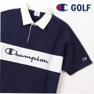 チャンピオン(Champion)のM 新品定価9600円/チャンピオンゴルフ/メンズ/半袖ポロシャツ/紺 (ウエア)