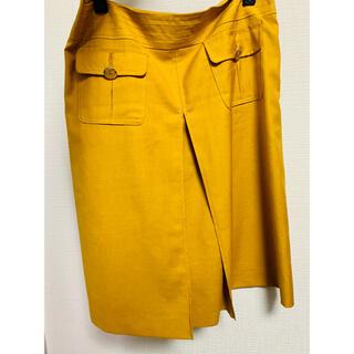 トミーヒルフィガー(TOMMY HILFIGER)のトミーヒルフィガーのイエロースカート(ひざ丈スカート)