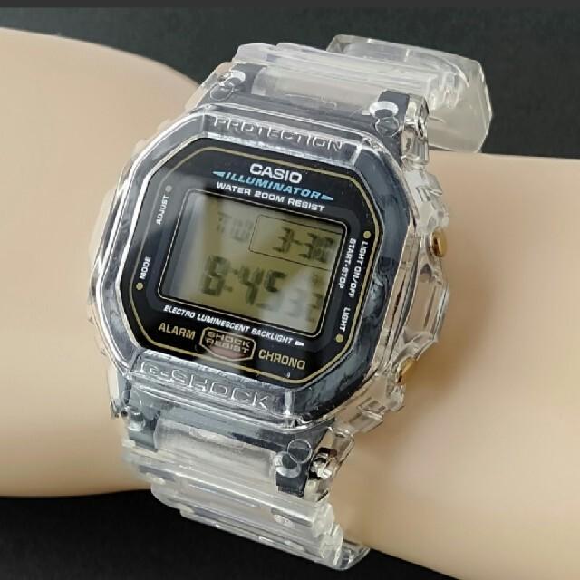 G-SHOCK(ジーショック)のカシオ Gショック DW-5600E クリア メンズの時計(腕時計(デジタル))の商品写真