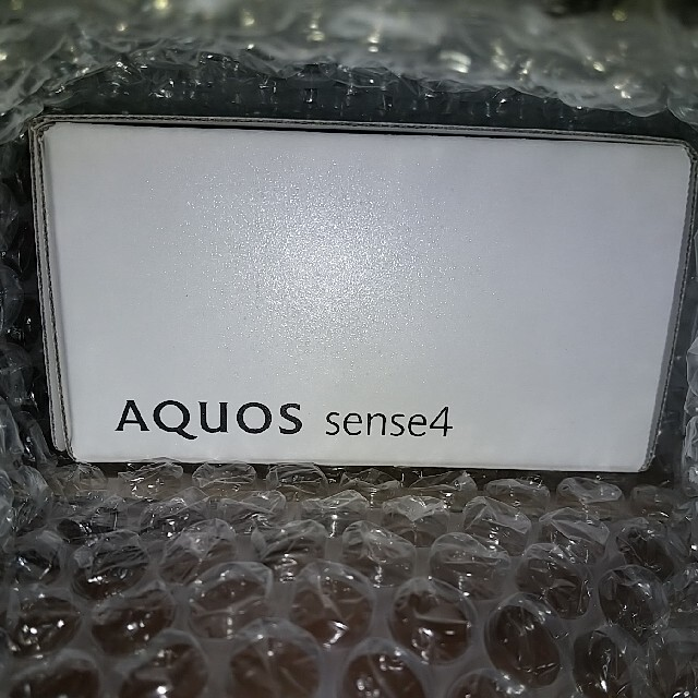 SHARP(シャープ)のSHARP AQUOS Sense4 SH-M15 シルバー スマホ/家電/カメラのスマートフォン/携帯電話(スマートフォン本体)の商品写真