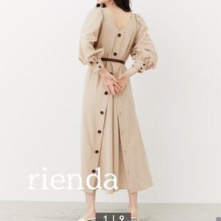 rienda - 最終値下げ 新作 バックボタンパフスリーブ ワンピース リエンダ rienda