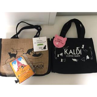 カルディ(KALDI)のカルディ ネコの日バッグ2点セット+カレンダー(トートバッグ)