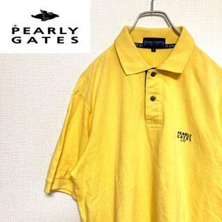 パーリーゲイツ(PEARLY GATES)の●パーリーゲイツ ゴルフ● ワンポイント 刺繍 半袖 ゴルフウェア メンズ(ポロシャツ)